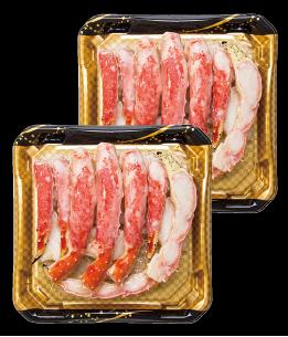 ロシアの漁場を限定した大型サイズのたらばがにを食べやすく調理加工。解凍してそのまま召しあがれます。ロシア産 ボイルたらばがにカット 1.6kg 冷凍 本体 20,000円(税込21,600円)