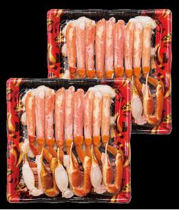 大型サイズのずわいがに原料のみを食べやすく調理加工しました。鍋や焼きがにでお召しあがりください。ロシア産ボイルずわいがにカット1.6kg冷凍本体 10,000円(税込10,800円)