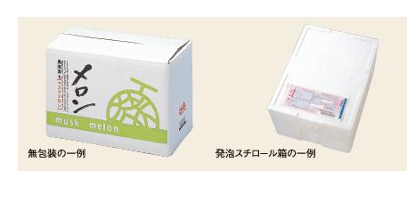 無包装の一例発泡スチロール箱の一例