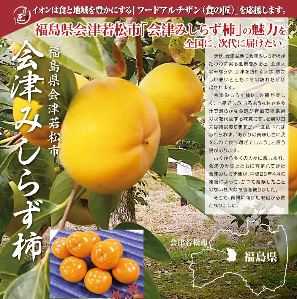 フードアルチザン福島県会津若松市「会津みしらず柿」の魅力を全国へ