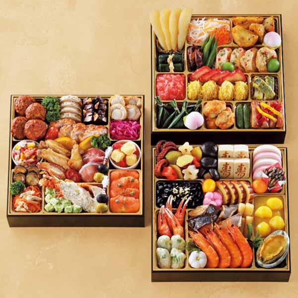 和洋中三段重「福」【4〜5人前・63品目】【イオンのおせち】 商品画像1