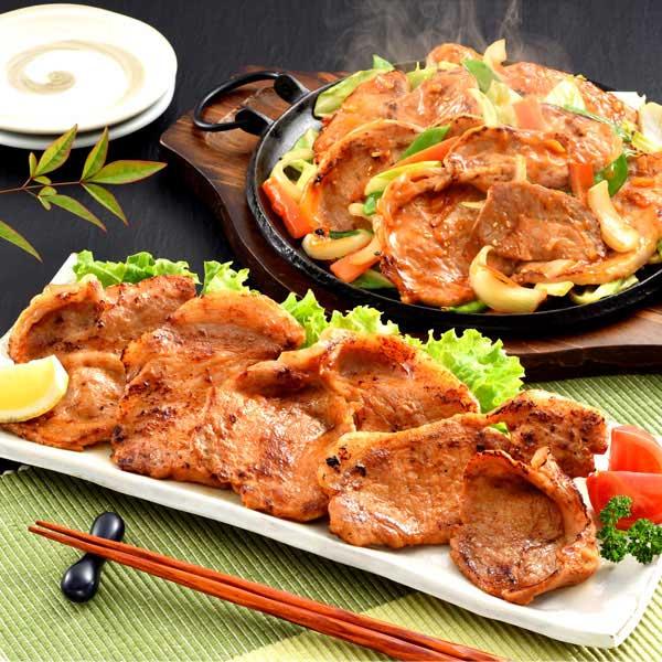 国産豚ロースふぞろいの味噌漬け・味付け生姜焼き用食べくらべセット 2400g【おいしいお取り寄せ】 商品画像1