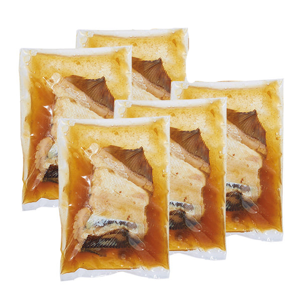 北海道噴火湾産 子持ち真カレイ煮付け 1切×5袋 (L5651) 【サクワ】 商品画像1