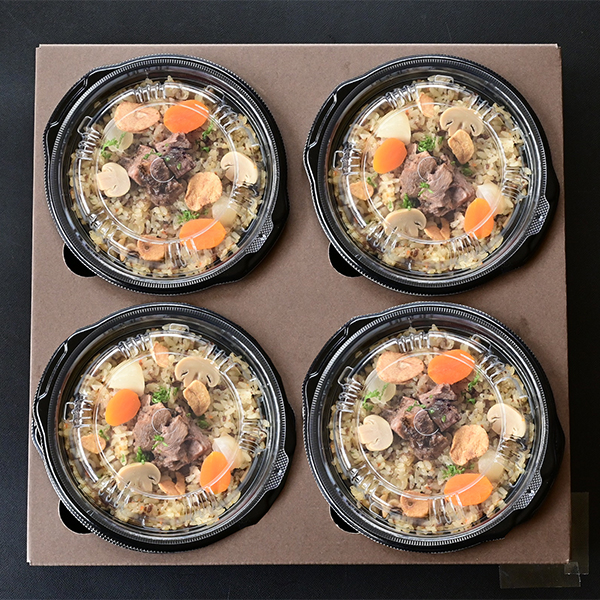 【米沢牛黄木】 米沢牛入りガーリックライス 200グラム×4食[YGR50] (L5873) 【サクワ】【直送】 商品画像1