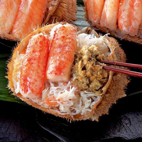 北海道産 毛がにの甲羅盛り 140グラム×2個 (L5910) 【サクワ】 【直送】 商品画像1