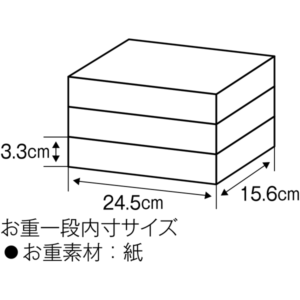 和洋中三段重「吉春」【2〜3人前・51品目】【イオンのおせち】 商品画像4