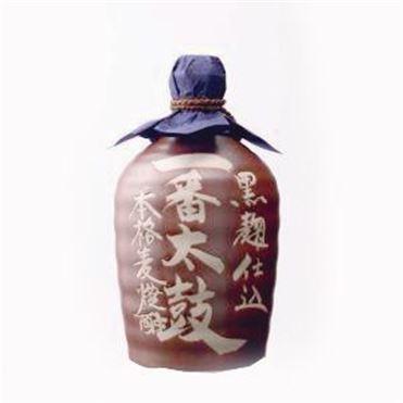 西吉田酒造 一番太鼓麦焼酎25度陶器【贈りもの】 商品画像1