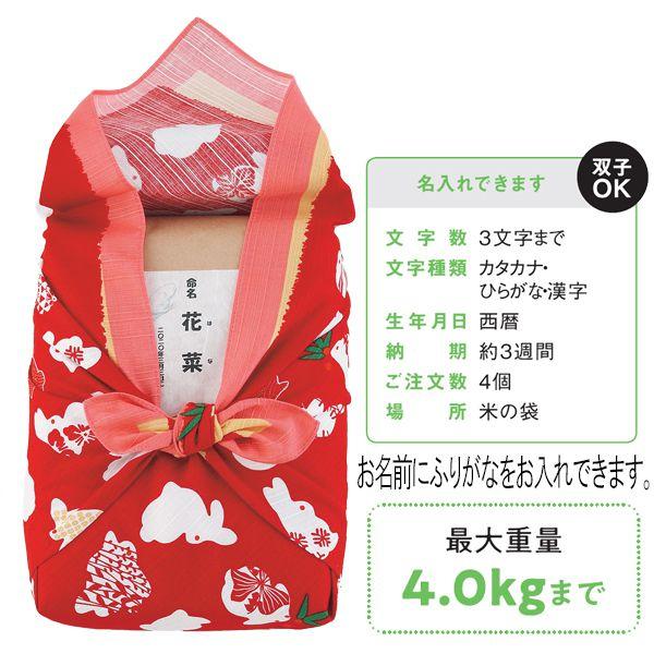 おくるみ米(名入れ)(女の子)【贈りものカタログ】[V0048-04] 商品画像1