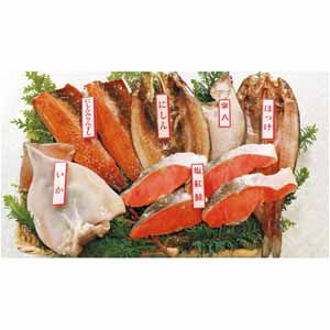 北海道 エスケイフーズ 塩紅鮭と北海道干物詰合せ(6種12枚) 【冬ギフト・お歳暮】