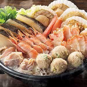 北海道 エスケイフーズ だし香る北海道知床どりと海鮮水炊きセット 【冬ギフト・お歳暮】