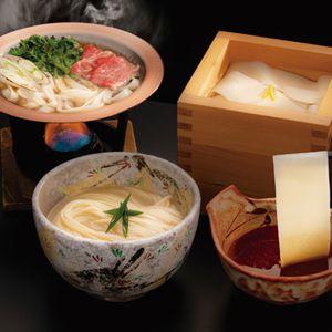 花山うどん 三種のつゆで味わう老舗の三冬麺 【冬ギフト・お歳暮】 [SS-30]