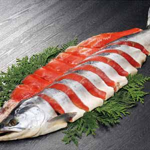 ロシア産 熟成塩紅鮭 海洋深層水仕込み(甘塩味) 【冬ギフト・お歳暮】