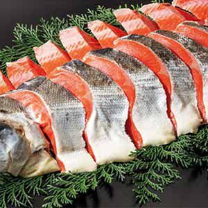 ロシア産 熟成塩紅鮭 海洋深層水仕込み(大・甘塩味) 【冬ギフト・お歳暮】