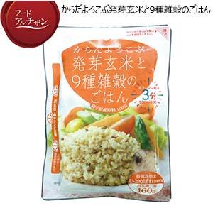 JAグリーンサービス花巻 からだよろこぶ発芽玄米と9種雑穀ごはん 160g×10パック(お試用:黒米のごはん160g×1パック)【フードアルチザン】