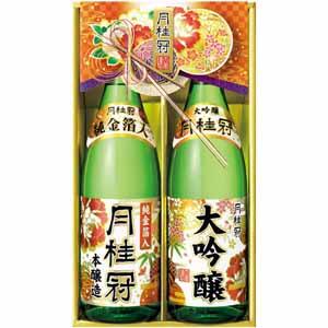 月桂冠 大吟醸・本醸造純金箔入セット 【冬ギフト・お歳暮】 [DK-40]