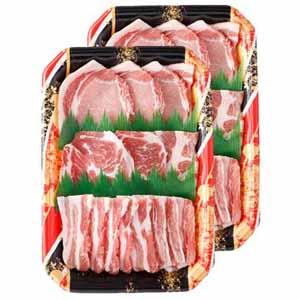 北海道ホエイ豚焼肉セット 900g(ロース・ばら・かたロース 各450g×2)【お届け期間:7/10〜10/13】 【北海道フェア】
