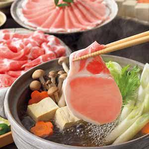 九州産黒豚しゃぶしゃぶ2種メガ盛りセット 【冬ギフト・お歳暮】