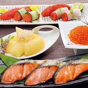 北海道 東和食品 魚卵4種と塩紅鮭の詰合せ 【冬ギフト・お歳暮】