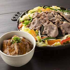 北海道名物豚丼とジンギスカンセット 【お届け期間:7/10〜10/13】 【北海道フェア】