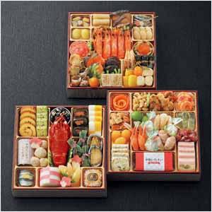 割烹料亭「千賀」 迎春おせち料理 和洋三段重「慶運」【4〜5人前・54品目】【イオンのおせち】