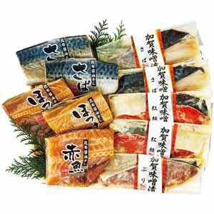 輪島 西脇水産 加賀味噌漬と昆布醤油干し(6種10切) 【冬ギフト・お歳暮】