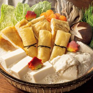 京豆腐 服部 老舗の味・白味噌仕立ての豆乳鍋セット 【冬ギフト・お歳暮】