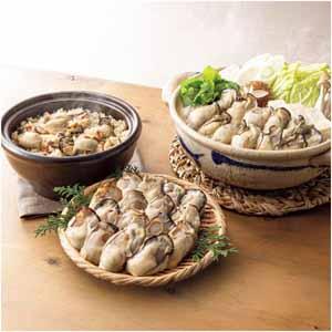クニヒロ かき屋さんの広島県産冷凍かきと蒸し牡蠣のかき土手鍋とかきめしの素セット 【冬ギフト・お歳暮】
