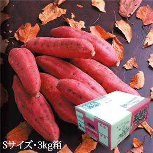 石川県産 五郎島金時さつまいも Sサイズ・3kg入【ふるさとの味・北陸信越】