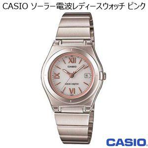 CASIO ソーラー電波レディースウォッチ ピンク (R3266)