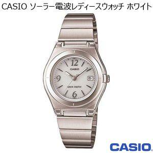 CASIO ソーラー電波レディースウォッチ ホワイト (R3265)