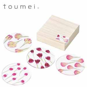 toumei カーネーションコースター 4枚セット  b【年間ギフト】[V0252-05]