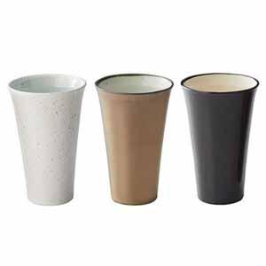 三種の泡立ちビアカップ  【年間ギフト】[Y9027-01]