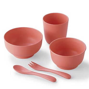 ひのきのぷら食器5点セット   ピンク 【年間ギフト】[H9149-01]