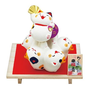 わっしょい幸福上昇 猫 【年間ギフト】 [019-0331c]