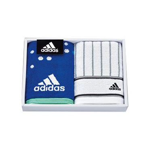 adidas アストラルギフト フェイスタオル2P/ブルー 【年間ギフト】 [AD-2071 B]
