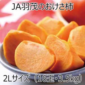 新潟県産(佐渡市)JA羽茂のおけさ柿 2Lサイズ(16個)【ふるさとの味・北陸信越】