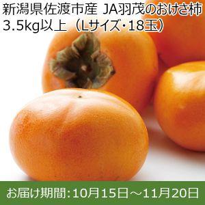 新潟県産(佐渡市)JA羽茂のおけさ柿  Lサイズ(18個)【ふるさとの味・北陸信越】