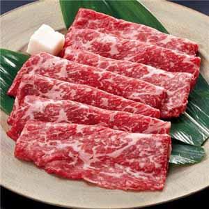 【北海の黒】北海道産牛モモ(すき焼き・しゃぶしゃぶ用)200グラム×2袋 (L5661) 【サクワ】