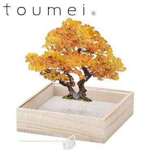 toumei ミニ盆栽(オブジェ)(銀杏)【贈りものカタログ】[C7985-92]