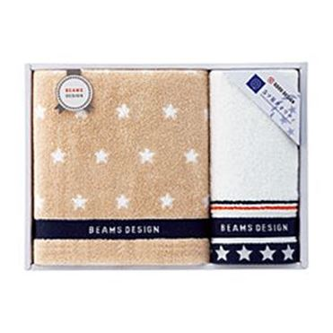 BEAMS DESIGN THE STAR GIFT フェイス・ウォッシュタオルセット【贈りものカタログ】[V1020-01]