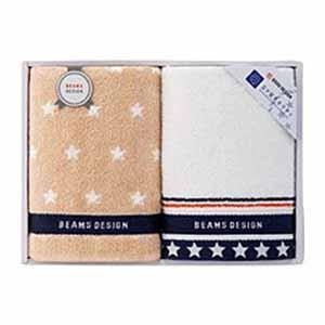 BEAMS DESIGN THE STAR GIFT フェイスタオルセット【贈りものカタログ】[V1020-02]