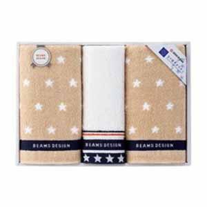 BEAMS DESIGN THE STAR GIFT フェイス・ウォッシュタオルセット【贈りものカタログ】[V1020-03]