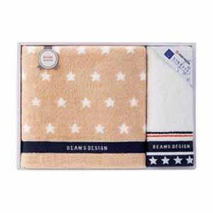 BEAMS DESIGN THE STAR GIFT バス・ウォッシュタオルセット【贈りものカタログ】[V1020-04]