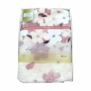 西川のボリューム合わせ毛布 花柄 ピンク【贈りものカタログ】