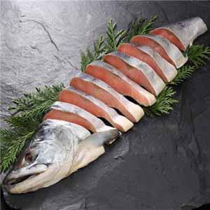 NSニッセイ 北海道認証 14日間熟成新巻鮭 姿切身半身 【お届け期間:7/10〜10/13】 【北海道フェア】