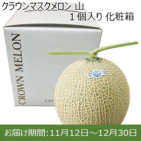 静岡県温室農業協同組合 クラウンメロン支所クラウンマスクメロン 山 1個入り 化粧箱【ふるさとの味・東海】